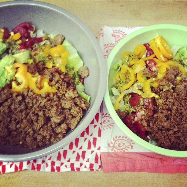 His // Hers   #TacoSalad #Duh #TGIF
