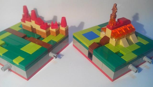 Tuiles Carcassonne en Lego : système d'accroche
