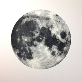 Reissue, Full Moon Screen Printed Poster (glows in the dark) http://www.etsy.com/shop/TheRamblinWorkerShop