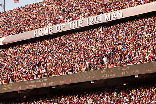 Home of the 12th Man Angle2 - Alabama Game