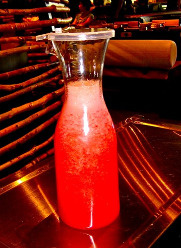 pitcher of watermelon juice