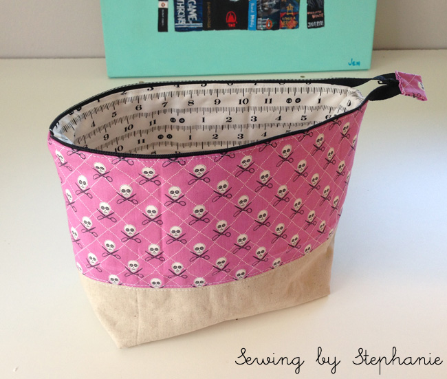 Wide Open Pouch for #Selfish Sewing Week
