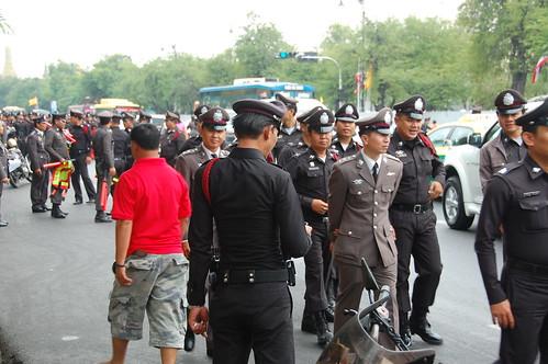 Thai Policemen in uniforms