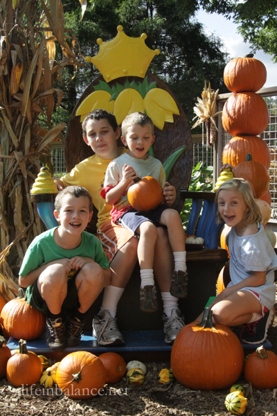 Family Photo in Pumpkinland at Longwood Garden