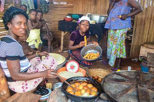 Making food in Togo