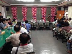 營建署國家公園計畫委員會到美濃現勘,稍晚並於客家文物館舉辦座談會。