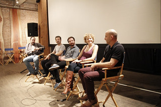 Keith Higgons moderating the Narrative Shorts panel by Greenpoint Film Festival, on Flickr