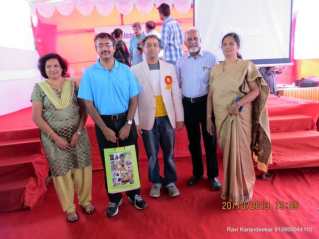 Mr. Sanjay Deshpande with Home Owners - Handing Over Ceremony of Sanjeevani Developers' Sangam at Sus on Sunday 20th October 2013