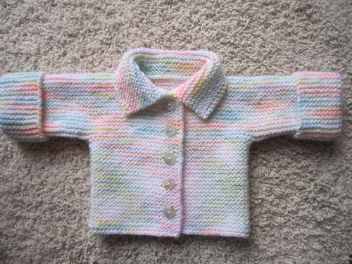 e97aa7931780 FO  Garter Stitch Baby Jacket - What cha Knittin   - KnittingHelp ...