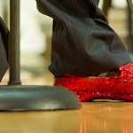 13-047 -- Director Tim Pitchford wore his ruby slippers at the Jazz Ensemble Halloween concert, where many members chose a Wizard of Oz theme to their costumes.