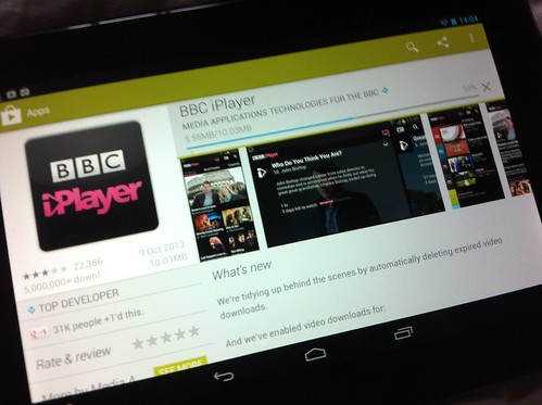 Installing the BBC iPlayer on our hudl