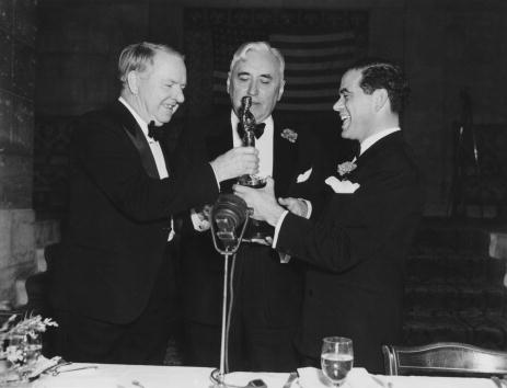 Image of W.C. Fields, Mack Sennett, Frank Capra