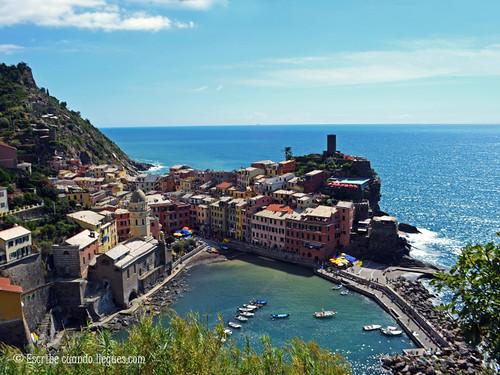 Pueblo de Vernazza, en Cinque Terre
