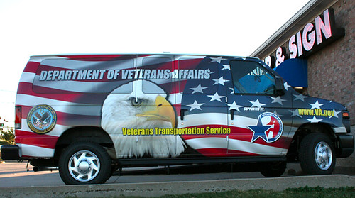 Veterans Transportation Service van wrap, downloaded from Banner & Sign Express. by busboy4