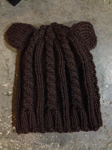 Cabled Teddy Hat