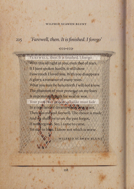 Eunice Lim - 14 Lines, Farewell, then. It is finished. I forego