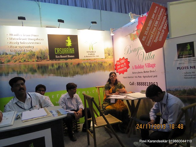 www.synergyfarms.co.in - Casuarina Eco Resort Homes - Agricultural Plots - backwaters of Bhatghar Dam near Bhor Pune - Pune Property Exhibition, Times Property Expo 'Investment Festival 2013', 23rd & 24th November 2013