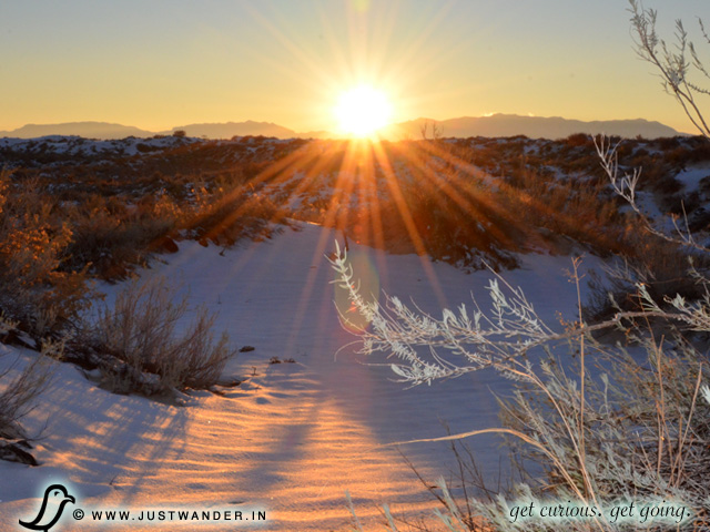 PIC: A November sunset at White Sands National Monument
