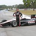 Juan Pablo Montoya poses with the #2 Team Penske Chevrolet at Sebring International Raceway