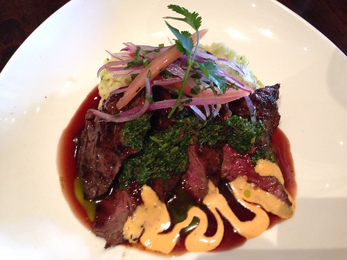 Flat iron steak at Limon Rotisserie in the Mission