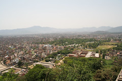 Panorama Kathmandu z Monkey Temple