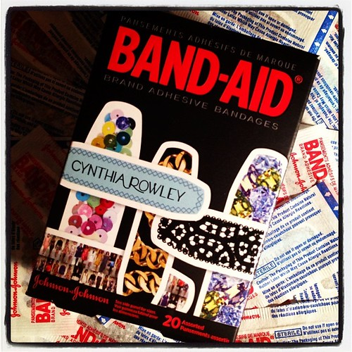 #fmsphotoaday January 5 - Found. Fancy Band-Aids (to cover up my completely-missing-but-hopefully-growing-back-soon fingernail that was lost in a holiday luggage mishap).