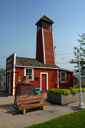 Ashcroft Fire Hall in Ashcroft, Thompson Okanagan, British Columbia, Canada.