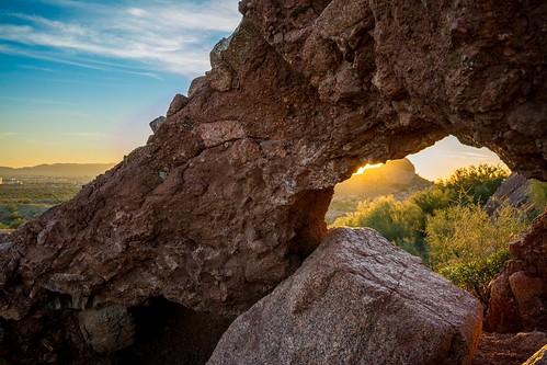 sunset arizona mountain nature phoenix outdoors nikon desert hole hiking phx papagopark d7100 papagoparkwestparktrailhead
