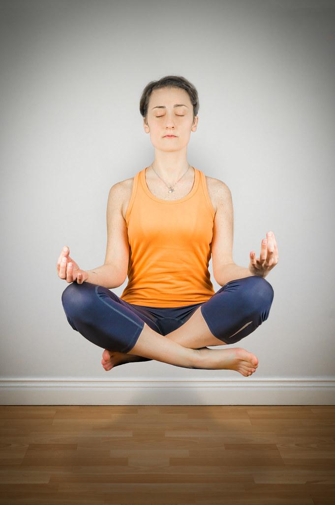 Practicing Yoga...