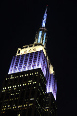 Picture Of Empire State Building Lit Up In Honor Of The Athletes Competing In The 2014 Winter Olympics In Sochi Russia By Displaying Rotation Of Countries Flag Colors. Photo Taken Friday February 7, 2014