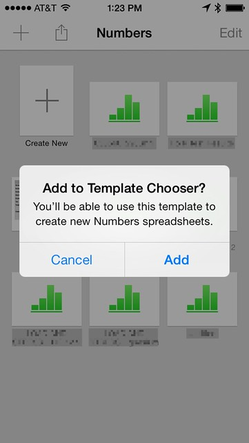 copying numbers templates to ios all this