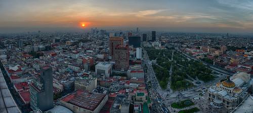 city sunset panorama sun buildings mexico mexicocity pano panoramic sgr 2013 sergiogarciarill