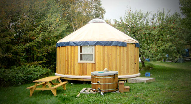 Honeymoon Yurt at Cabot Shores