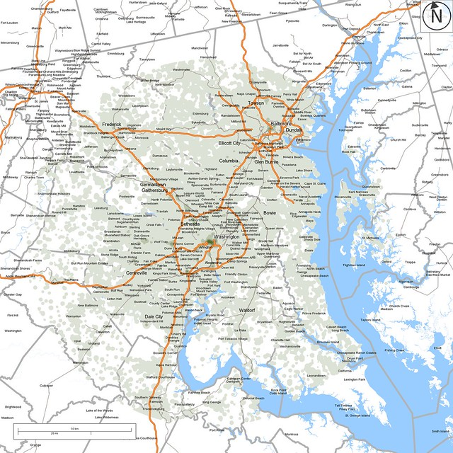 Washington-Baltimore job density