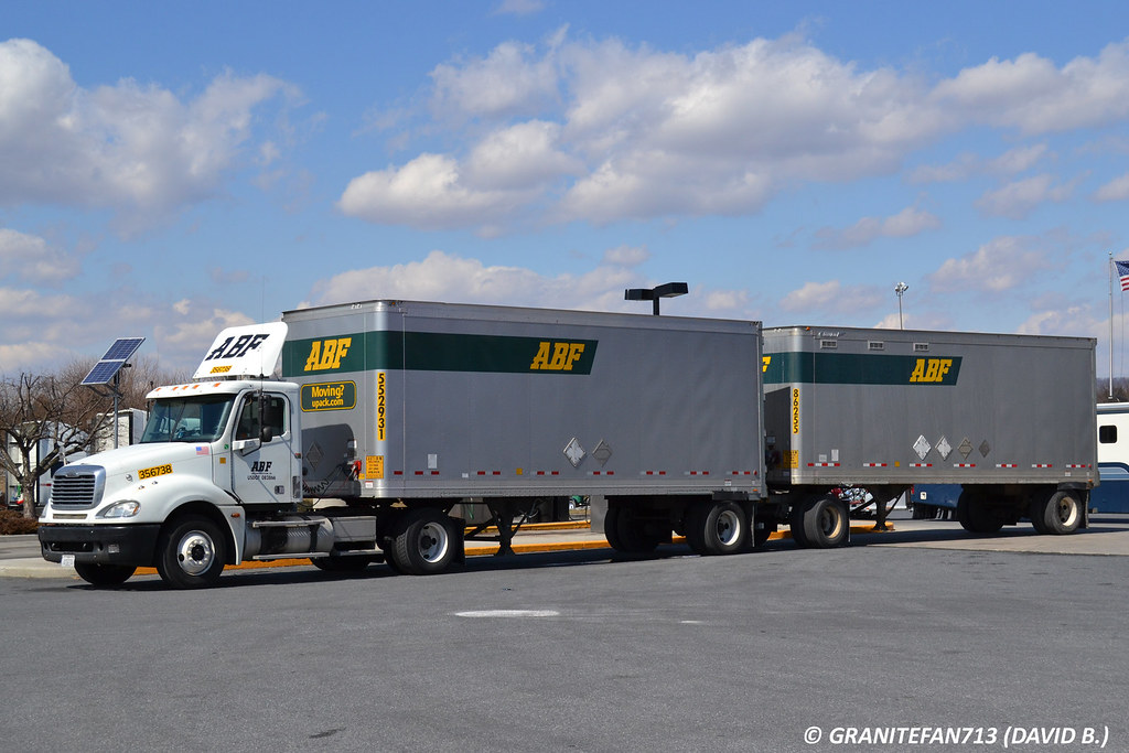 ABF Freight Freightliner Columbia with Doubles