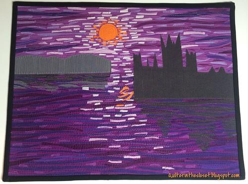 Monet Inspired wall quilt
