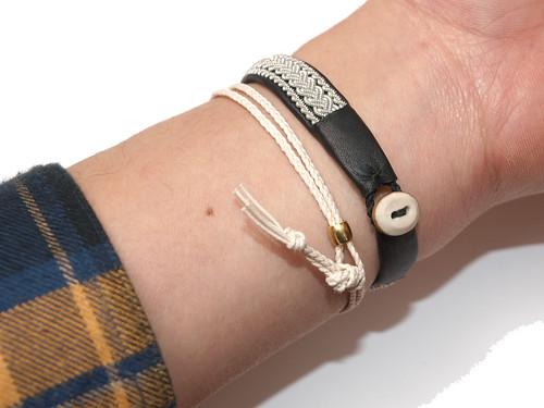 Esperanto / Cotton Cord Bracelet
