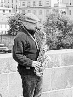 Charles Bridge Sax Player
