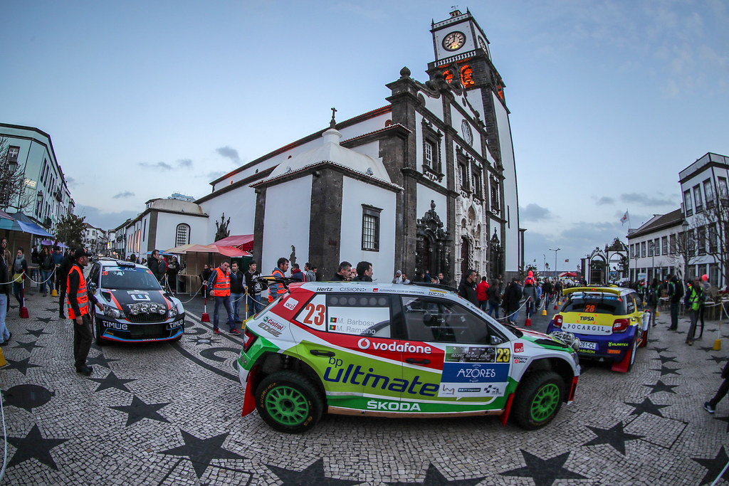 23 BARBOSA Miguel RAMALHO Miguel  Skoda Fabia R5 Ambiance Action during the 2017 European Rally Championship ERC Azores Rally - Photo Jorge Cunha / DPPI