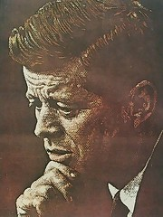 John F. Kennedy by Norman Rockwell.  Post Cover. April 6, 1963.