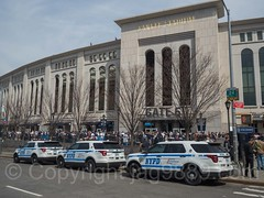 NYPD CRC Critical Response Command Police Cars, 2017 Yankees Home Opener at Yankee Stadium, The Bronx, New York City