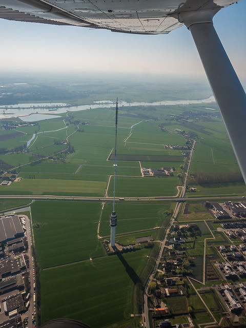 Flying the C206 above the Netherlands