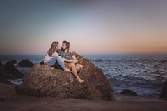 Michael and Yvonne are fun, loving and easy going couple. They had their engagement session at Point Dume in Malibu CA.