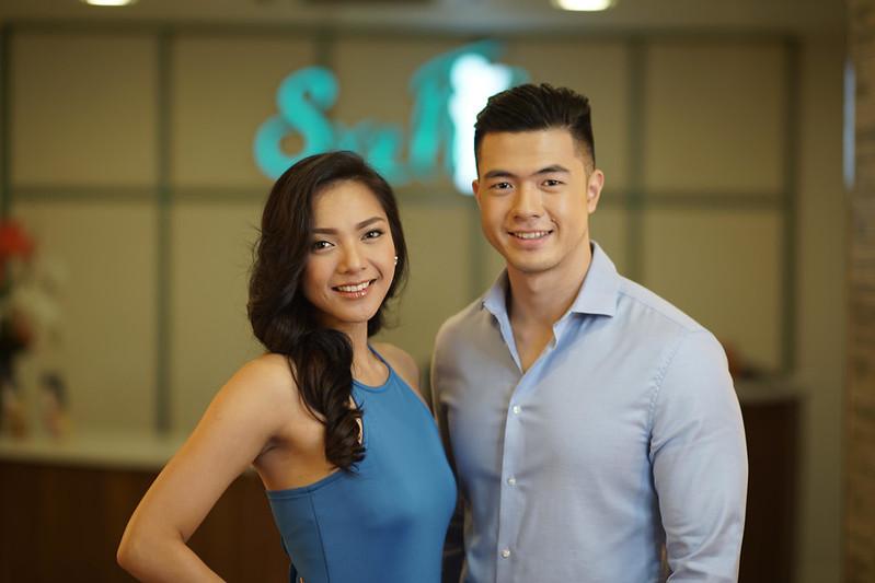 Jannie Alipo-on and Jerome Tan SvelT'i Health & Beauty Centre Ambassadors