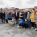 2017_03_17 pose symbolique de la 1re pierre de la Maison des Jeunes Fousbann