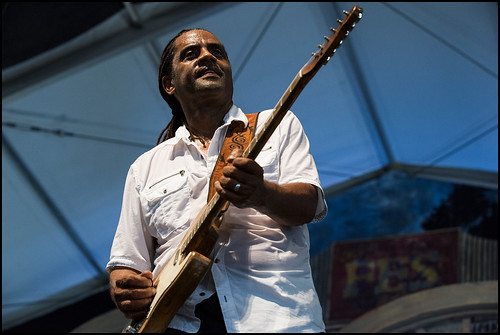 Kenny Neal and the Baton Rouge Blues Revue during Jazz Fest day 2 on April 29, 2017. Photo by Ryan Hodgson-Rigsbee www.rhrphoto.com