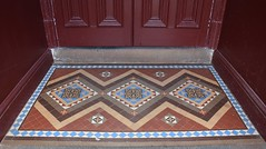 Encaustic tiles - entrance to Heathcote Mechanics' Institute, Victoria