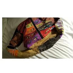 #sanantoniohighlandgamesandcelticmusicfestival bought a big satchel like handbag at the Highland Games to