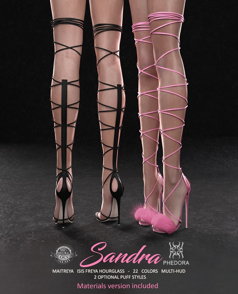 "Phedora for Kustom9 - ""Sandra"" heels ♥ - SecondLifeHub.com"