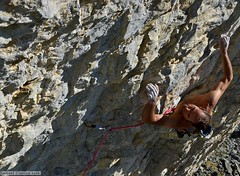 Steep climbing Panoramix, Bas-Valais, Crans-Montana, Switzerland ¦ Photo by Samuel Clavien
